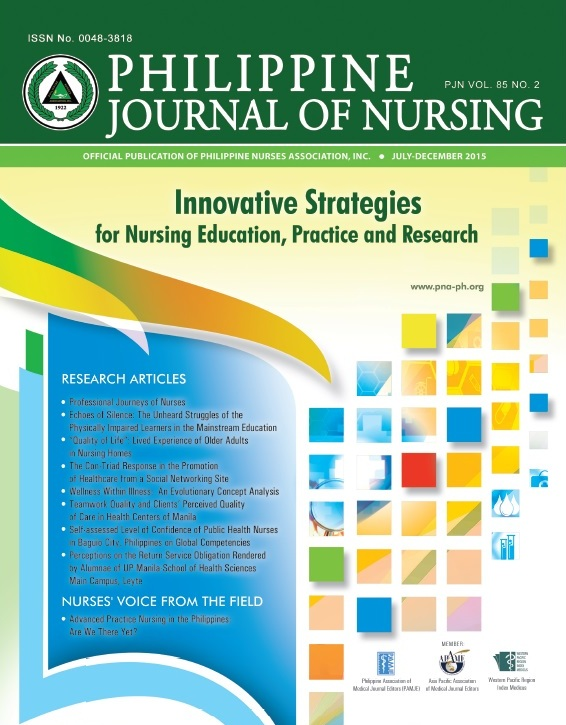 research paper on nursing competency in the philippines The philippine journal of nursing invites original research and scientific papers, full text or abstract, written by registered nurses on different areas of nursing practice, including but not limited to clinical , community, administration, and education.